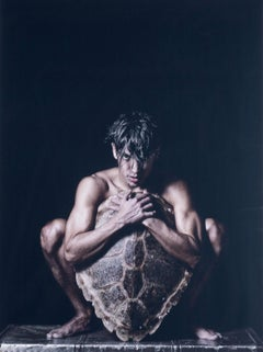 Turtle (male model uses shield carved from large turtle shell to cover his body)