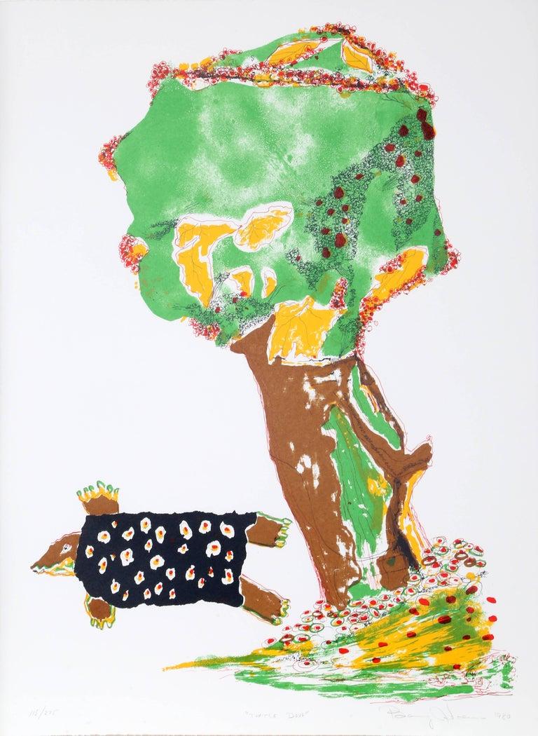 Benny Andrews Animal Print - Turtle Dove