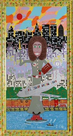 """""""The Big Apple"""", NYC Pop Art Painting by Benny Carter"""