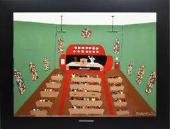 """The Reverend Howard Finster"" Vintage Folk Art Church Interior by Benny Carter"