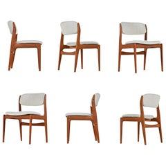 Benny Linden Scandinavian Modern Solid Teak Dining Chairs
