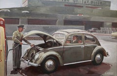 """"""" Beatle VW in san Diego """", Painting, Oil on Canvas"""
