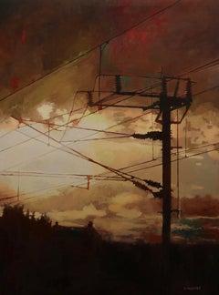 """ Contre Jour "", Painting, Oil on Canvas"