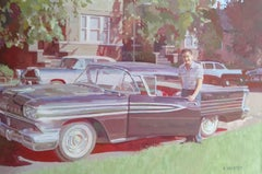 """"""" New Oldsmobile 1958 """", Painting, Oil on Canvas"""
