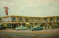 """"""" Star fire Motel """", Painting, Oil on Canvas"""