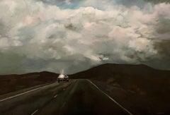 """""""Ciel orageux"""", Painting, Oil on Canvas"""
