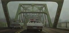 """""""Sur la route de Memphis"""", Painting, Oil on Canvas"""