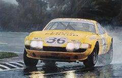 Yellow Ferrari, Painting, Oil on Canvas