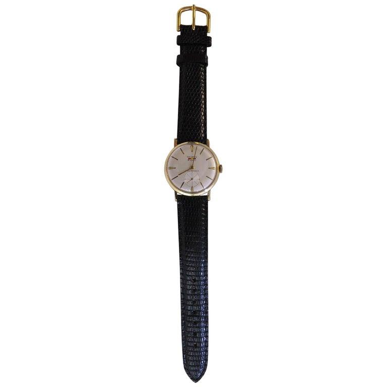 Benrus 14 Karat Yellow Gold Watch 21 Jewels For Sale