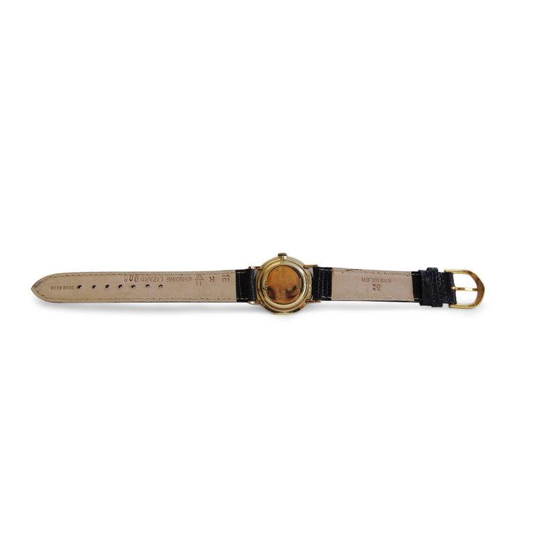 Women's or Men's Benrus 14 Karat Yellow Gold Watch 21 Jewels For Sale
