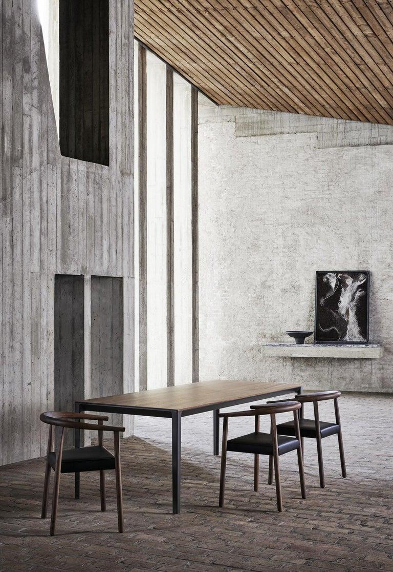 Walnut BENSEN Tokyo Chair - walnut frame w/ Black leather seat For Sale