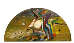 Untitled - Oil on Board by Bension Enav - 1960s