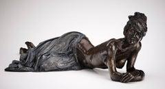 Bronze Sculpture of an Elegant Young Ballet Dancer 'Lazy Days'