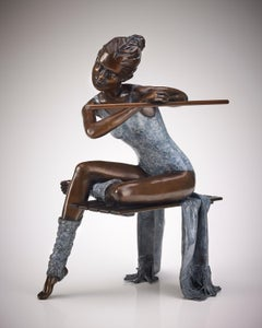 Contemporary Ballerina Sculpture of a Dancer 'Last Dance' by Benson Landes