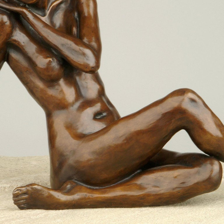 Nude Bronze Figurative Sculpture Ballet Dancer by Benson Landes 'Quiet Elegance' For Sale 2