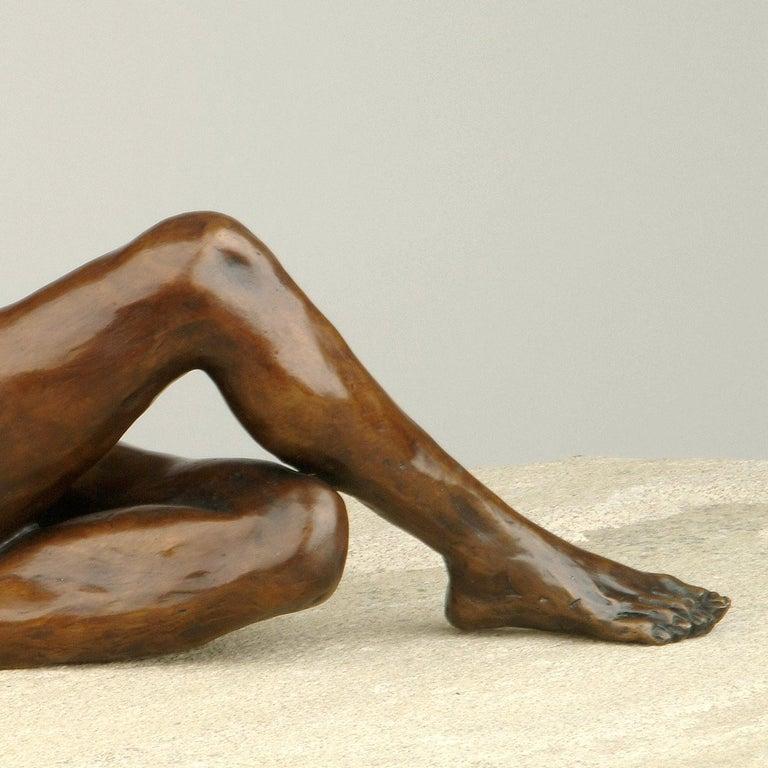Nude Bronze Figurative Sculpture Ballet Dancer by Benson Landes 'Quiet Elegance' For Sale 3