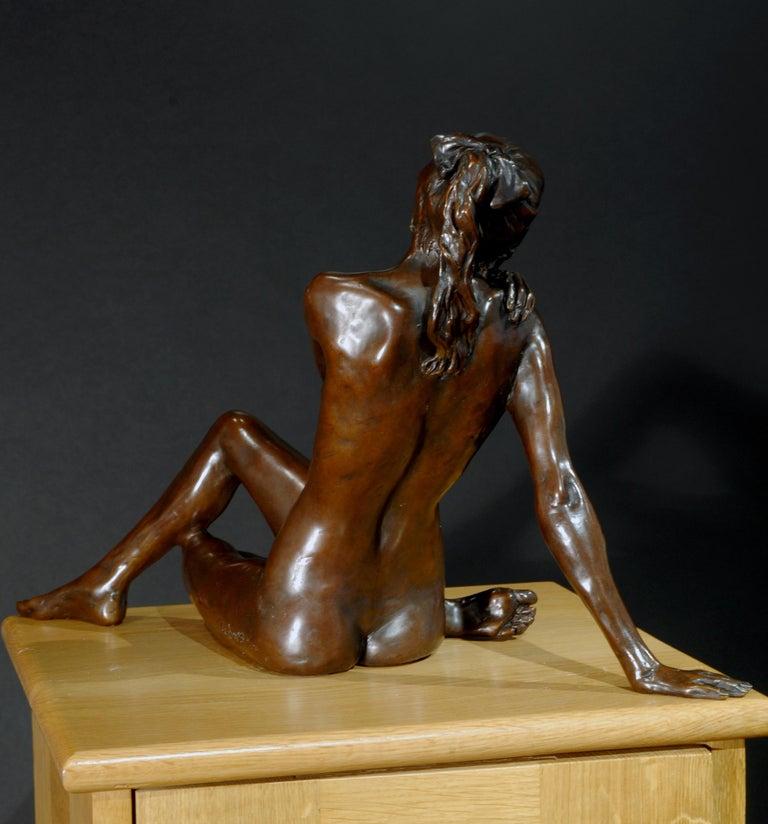 Nude Bronze Figurative Sculpture Ballet Dancer by Benson Landes 'Quiet Elegance' For Sale 5