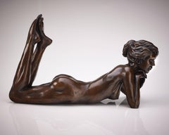 Solid Bronze Ballet Dancer Sculpture 'Meditation' by Benson Landes