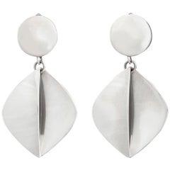 Bent Gabrielsen for Georg Jensen Modernist Silver Clip-On Earrings #380B