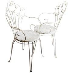 Bent Garden Chairs, 1980s, Set of 4