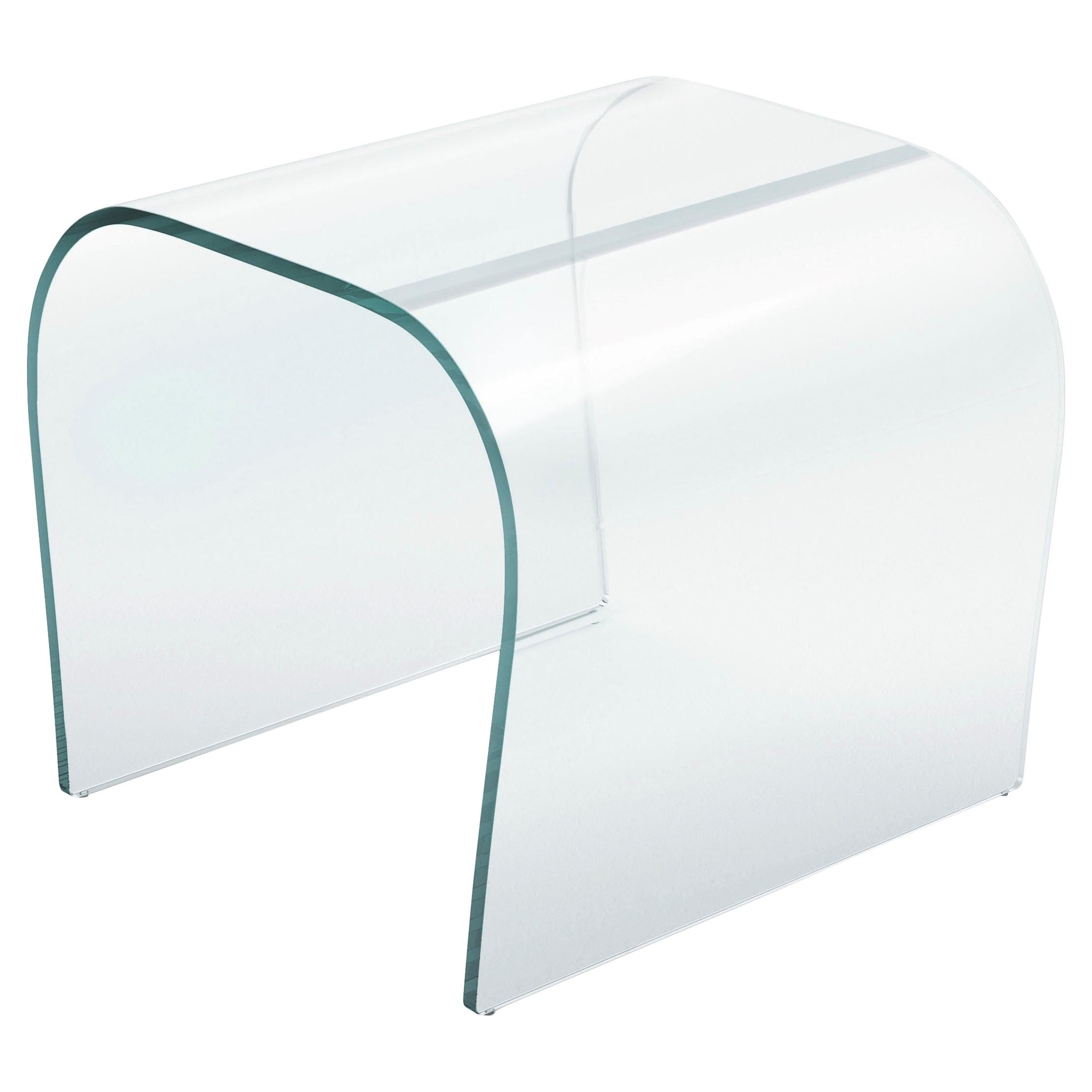 Bent Glass Stool in Extra Clear Glass, by Naoto Fukasawa from Glas Italia