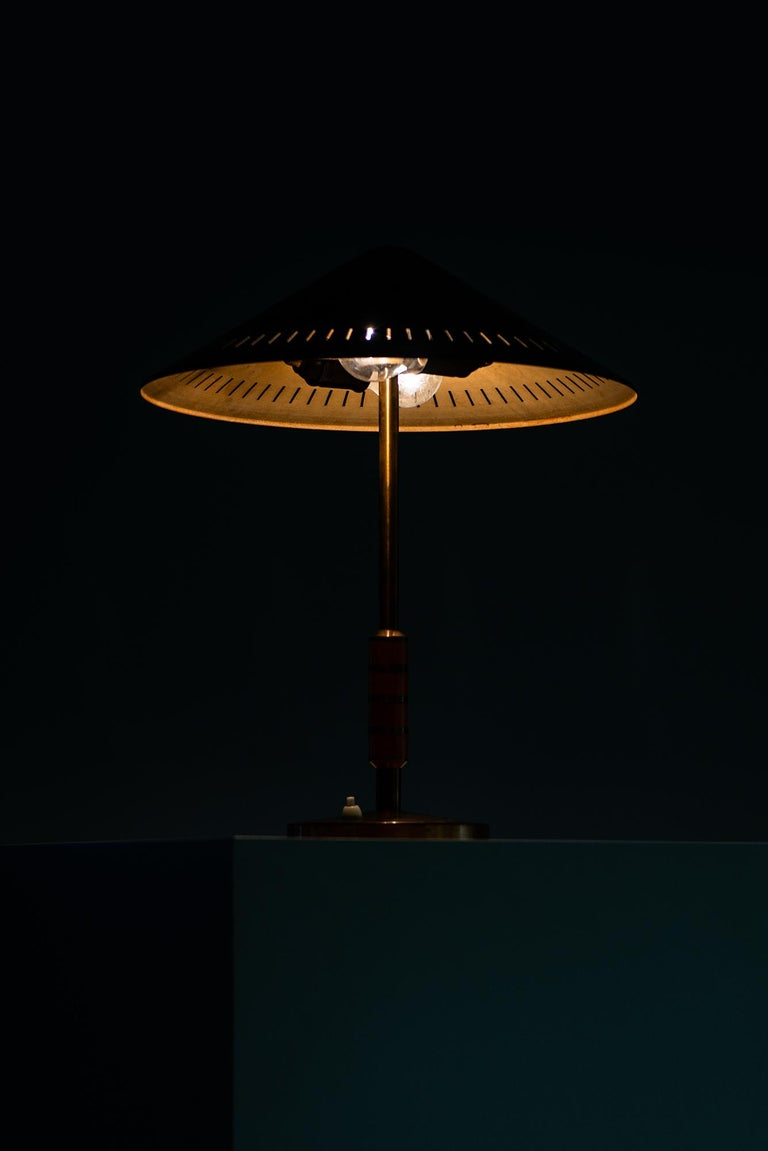 Brass Bent Karlby Table Lamp Produced by Lyfa in Denmark For Sale