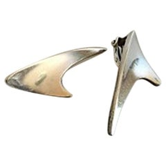 Bent Knudsen Earclips in Sterling Silver #2