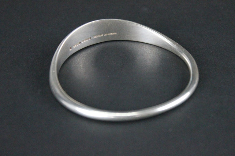 Heavy and solid sterling silver bracelet by Bent Knudsen Denmark.  With marks