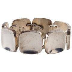 Bent Knudsen Sterling Silver Handmade Modernist Square Bracelet