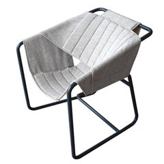Bent Metal Tubing with Fabric Sling Easy Chair