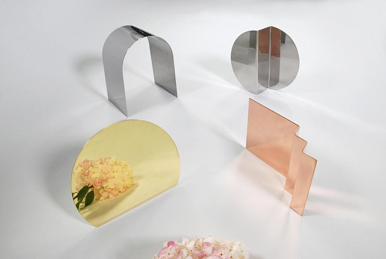 'Bent Mirrors' Minimalist Objects in Stainless Steel In New Condition For Sale In Detroit, MI