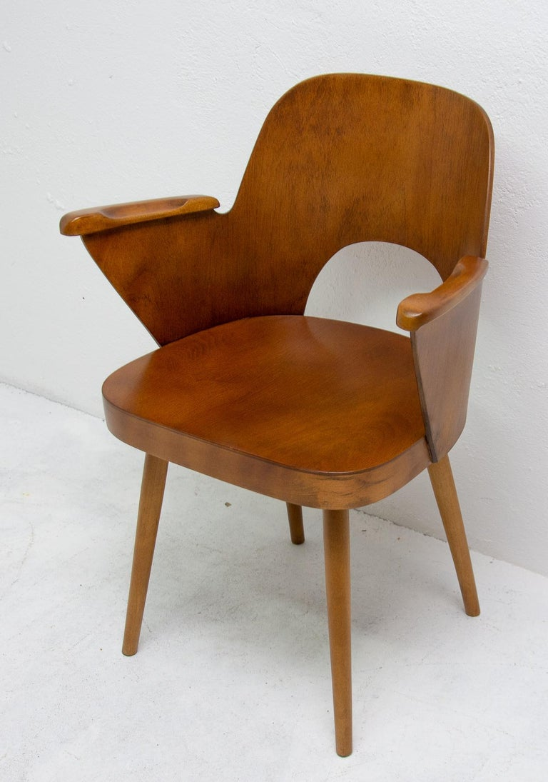 Bent Plywood Desk Armchair by Oswald Haerdtl, 1960s For ...