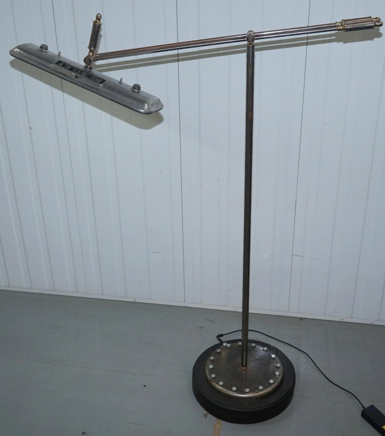 We are is delighted to offer for sale this vintage one of a kind Bentley angle poise articulated floor standing lamp