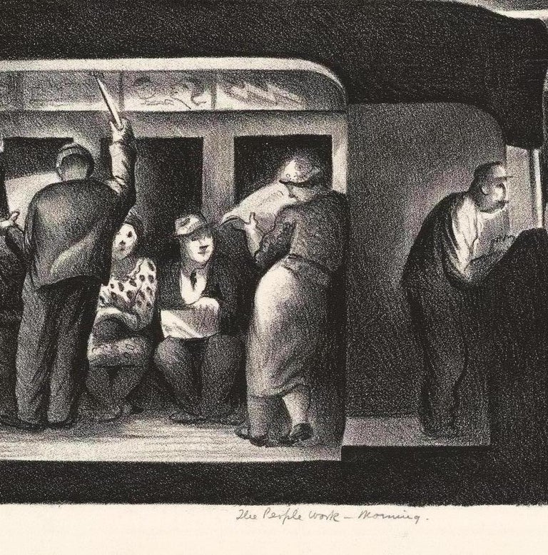 The People Work, Morning - Noon - Evening - Night. [set of four]. - Modern Print by Benton Murdoch Spruance