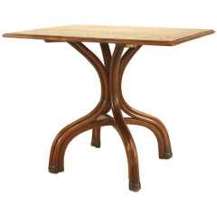 Bentwood '19th-20th Century' Stained Walnut Rectangular Café Table