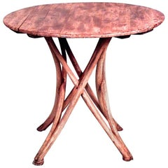 Bentwood '19th-20th Century' Stripped End Table