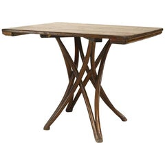 Bentwood '19th-20th Century' Walnut Stained Cafe Table