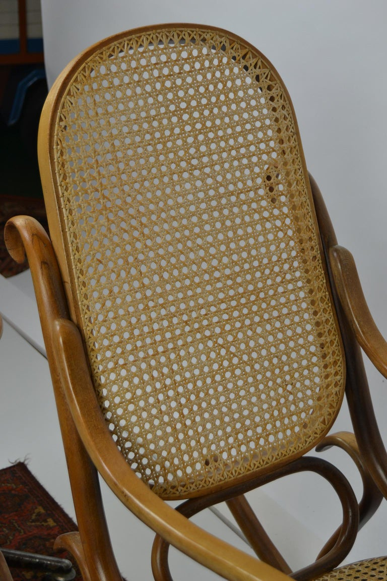 Bentwood And Cane Rocking Chair Thonet Style For Sale At