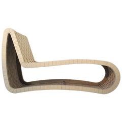Formholz und Gurtband Midcentury skandinavischen Chaiselongue