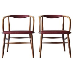 Bentwood Armchair Attributed to Thonet with Leather Seat