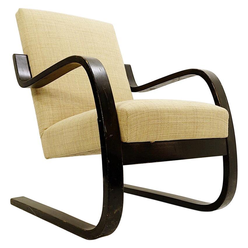 Bentwood Armchair by Alvar Aalto for Artek - New upholstery - Finland c.1939