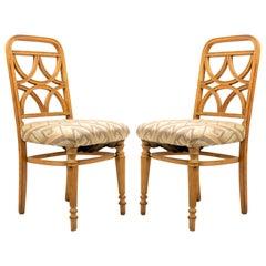 Bentwood Art Deco Geometric Side Chairs