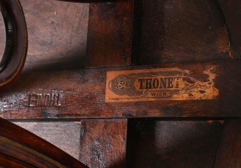 Bentwood Art Nouveau Reading Table by Thonet, Austria, 1880s For Sale 6