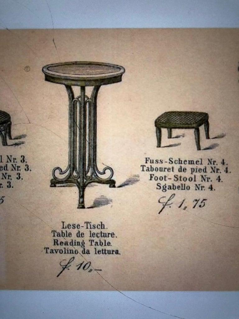 Bentwood Art Nouveau Reading Table by Thonet, Austria, 1880s For Sale 7