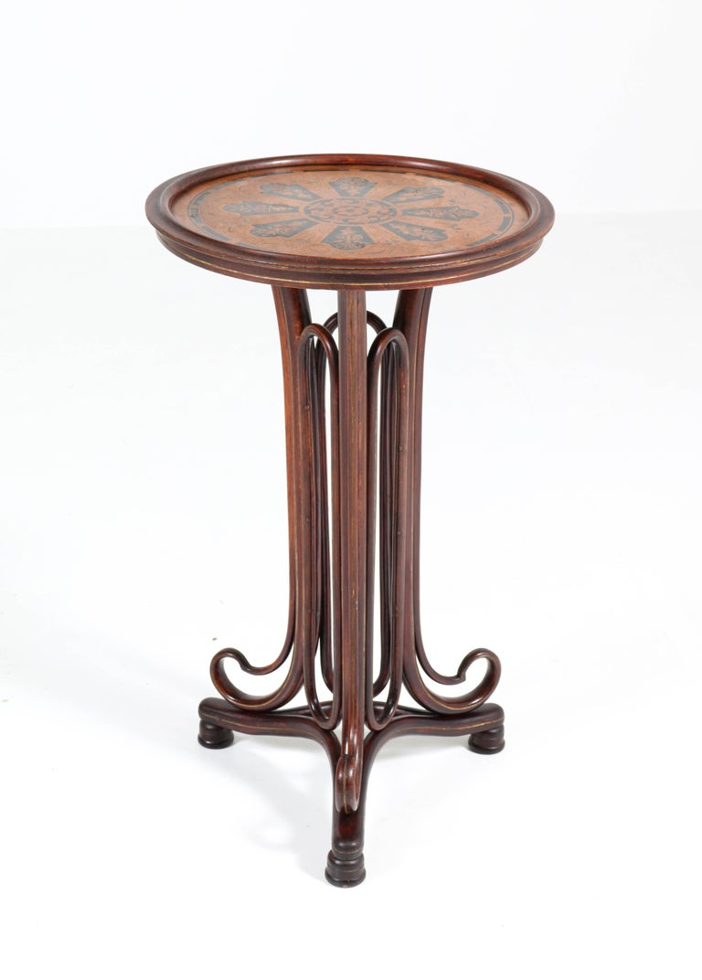 Wonderful and very rare Art Nouveau reading table.