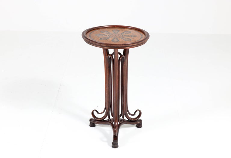 Late 19th Century Bentwood Art Nouveau Reading Table by Thonet, Austria, 1880s For Sale