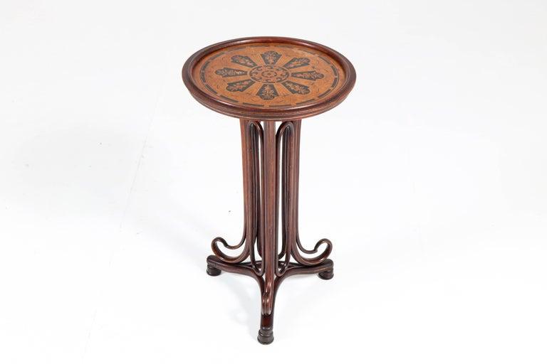 Bentwood Art Nouveau Reading Table by Thonet, Austria, 1880s For Sale 1