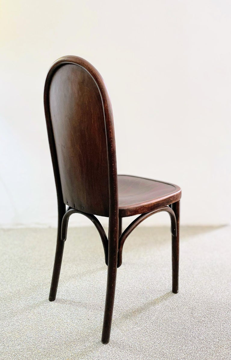 Austrian Bentwood Chair Attributed to Josef Hoffmann, Austria, circa 1910 For Sale