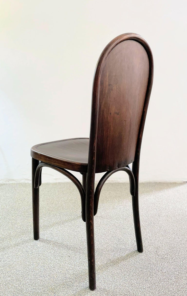 Stained Bentwood Chair Attributed to Josef Hoffmann, Austria, circa 1910 For Sale