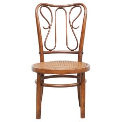 Bentwood Chair in the Style of Thonet, Rattan and Wood, circa 1940